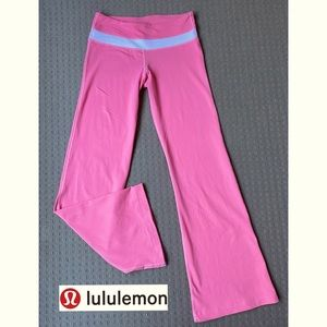 Lululemon pink wide leg workout leggings US6/AU10